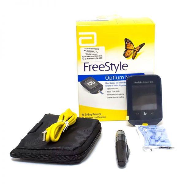 מד סוכר (גלוקומטר) FreeStyle Optium Neo מקורי