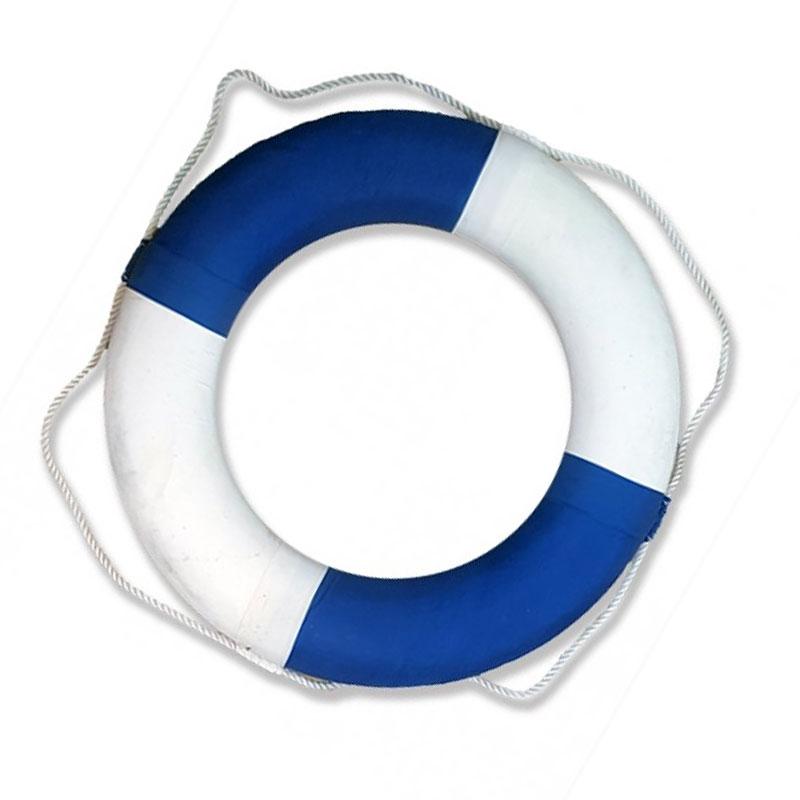 """גלגל הצלה קלקר כחול-לבן קוטר 70 ס""""מ"""