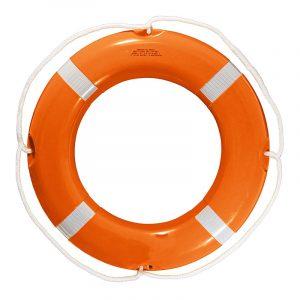 גלגל הצלה פלסטיק קשיח כתום קוטר 75/45 תקן סולאס