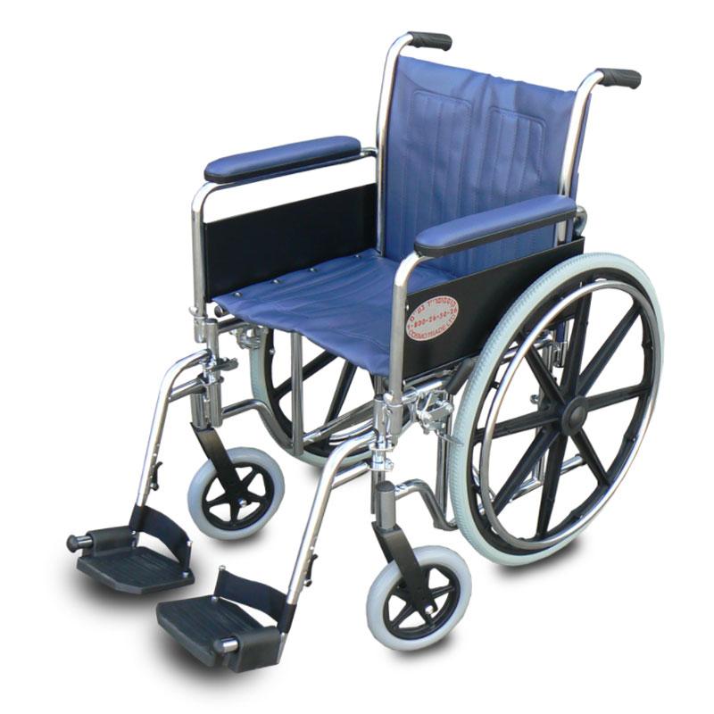 כסא גלגלים מוסדי עם ידית ארוכה דגם WCDS