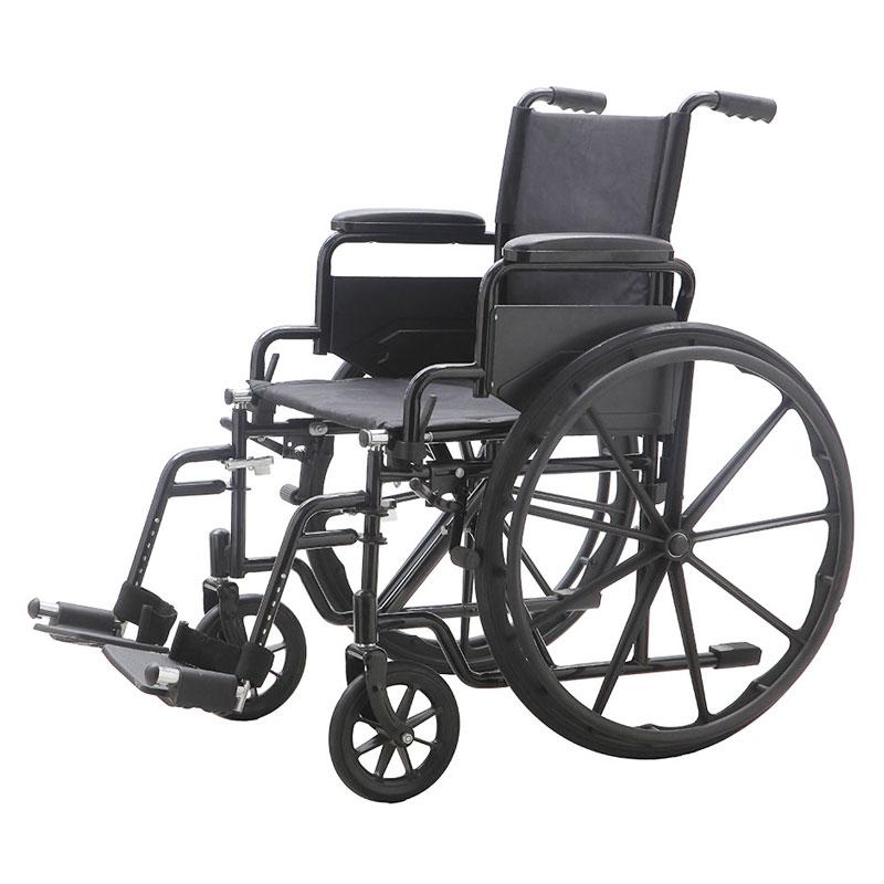 כסא גלגלים מוסדי ידיות מתרוממות + רגליות פריקות דגם 005C