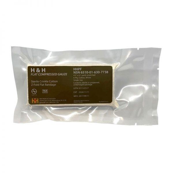 גזה דחוסה 6510-01-630-7738 H&H Flat Compressed Gauze