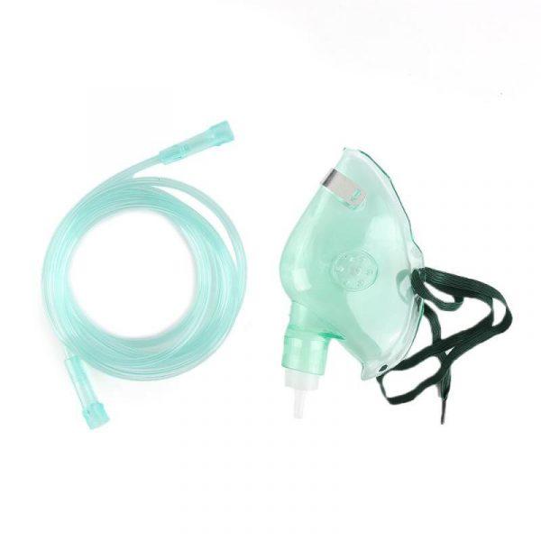 מסיכת חמצן מבוגר / ילד עם שקית העשרה וצינורית חמצן